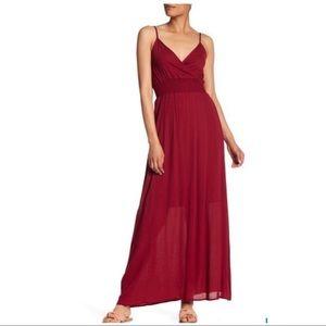 West Kei Wine Maxi Dress
